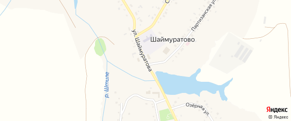 Улица Шаймуратова на карте села Шаймуратово с номерами домов