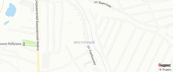 Улица Карбышева на карте Ишимбая с номерами домов