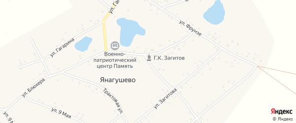 Клубная улица на карте села Янагушево с номерами домов