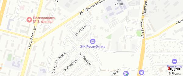 Улица Юности на карте Уфы с номерами домов