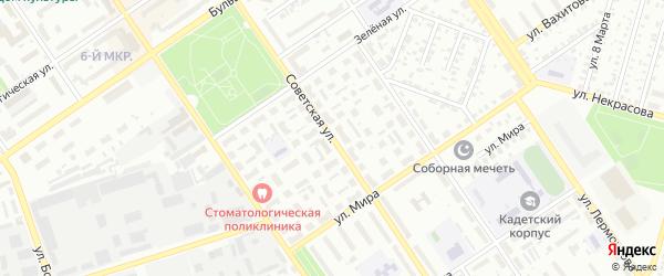 Советская улица на карте Ишимбая с номерами домов