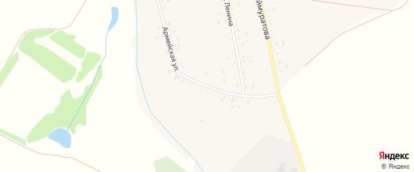 Армейская улица на карте села Шаймуратово с номерами домов