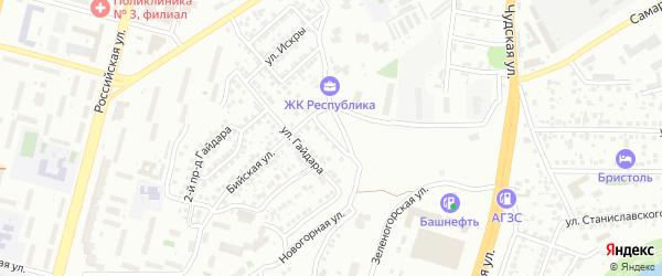 Карский переулок на карте Уфы с номерами домов