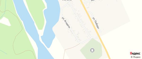 Улица Агидель на карте деревни Карайганово с номерами домов
