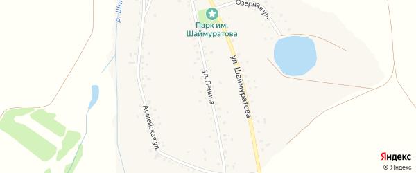 Улица Ленина на карте села Шаймуратово с номерами домов