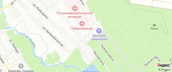 Парковая улица на карте Ишимбая с номерами домов