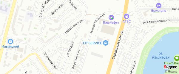 Зеленогорская улица на карте Уфы с номерами домов
