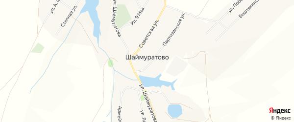 Карта села Шаймуратово в Башкортостане с улицами и номерами домов