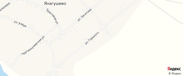 Улица Горького на карте села Янагушево с номерами домов