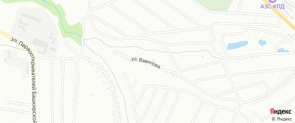 Улица Вавилова на карте Ишимбая с номерами домов