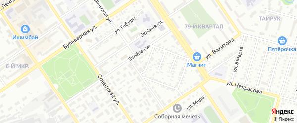 Проезд Дзержинского на карте Ишимбая с номерами домов
