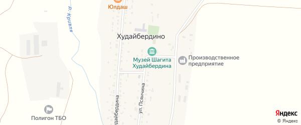 Улица Худайбердина на карте деревни Худайбердино с номерами домов