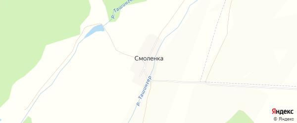 Карта деревни Смоленки в Башкортостане с улицами и номерами домов