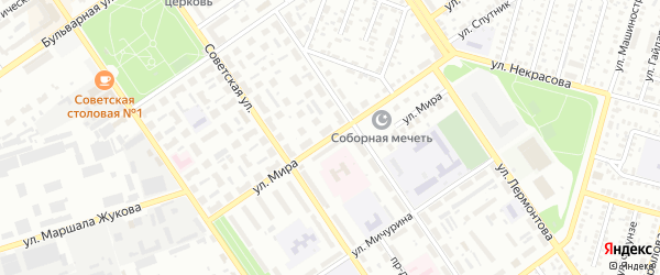 Улица Мира на карте Ишимбая с номерами домов