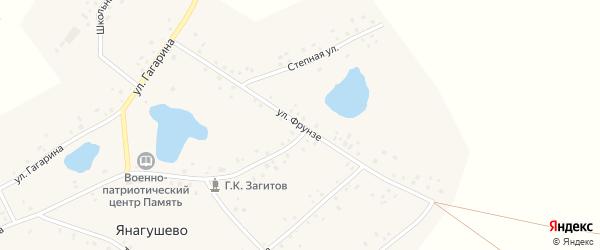 Улица Фрунзе на карте села Янагушево с номерами домов