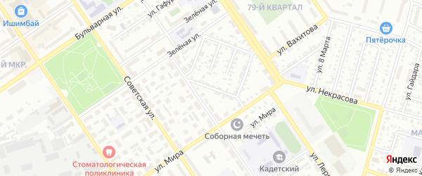 Третьяковский проезд на карте Ишимбая с номерами домов