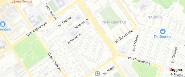 Тульский проезд на карте Ишимбая с номерами домов