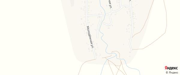 Молодёжная улица на карте села Кинзекеево с номерами домов