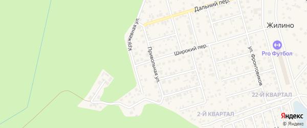 Привольная улица на карте деревни Жилино с номерами домов