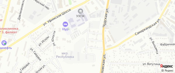 Ставропольская улица на карте Уфы с номерами домов
