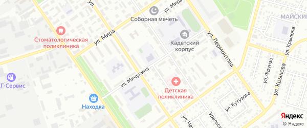 Улица Мичурина на карте Ишимбая с номерами домов