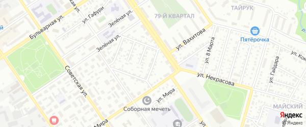 Астраханский проезд на карте Ишимбая с номерами домов