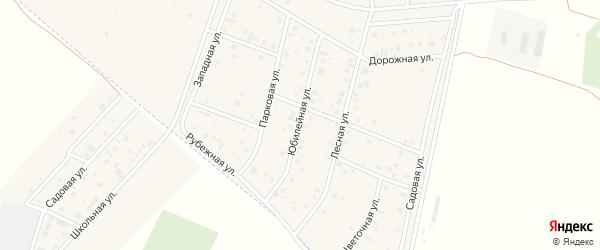 Юбилейная улица на карте деревни Старые Киешки с номерами домов