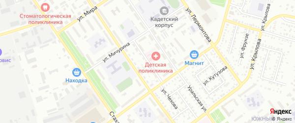 Проезд Седова на карте Ишимбая с номерами домов