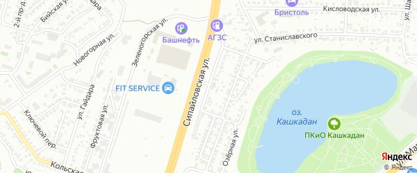 Кулундинская улица на карте Уфы с номерами домов