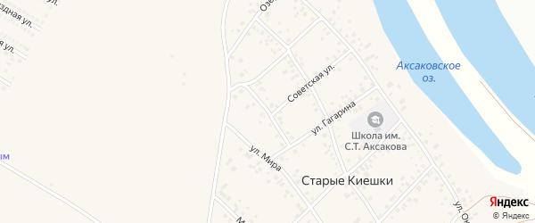 Советская улица на карте деревни Старые Киешки с номерами домов