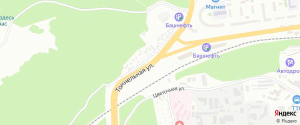 Тоннельная улица на карте Уфы с номерами домов
