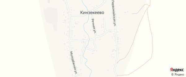 Речная улица на карте села Кинзекеево с номерами домов