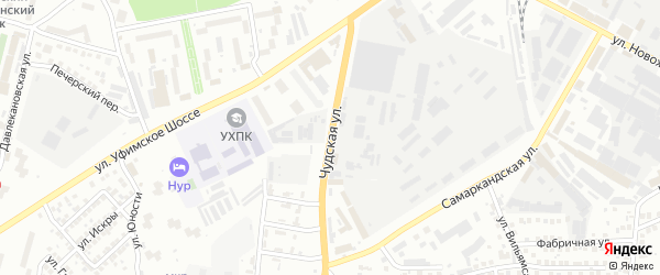 Чудская улица на карте Уфы с номерами домов