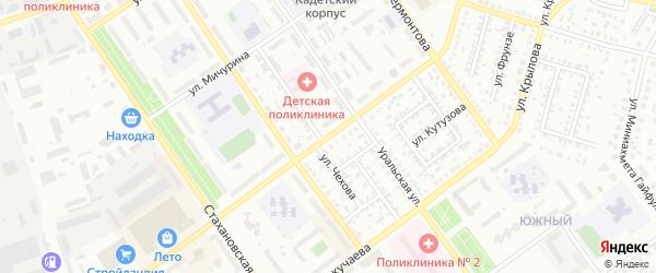 Улица Машиностроителей на карте Ишимбая с номерами домов