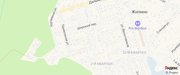 Офицерский переулок на карте деревни Жилино с номерами домов