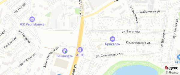 Проезд Станиславского на карте Уфы с номерами домов