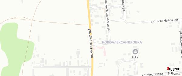 Улица Энергетиков на карте Уфы с номерами домов
