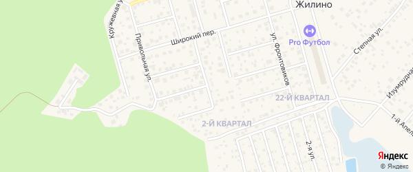Малый Армейский переулок на карте деревни Жилино с номерами домов