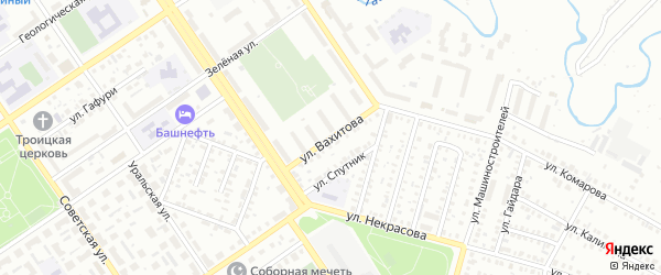 Улица Вахитова на карте Ишимбая с номерами домов