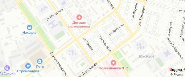 Улица Менделеева на карте Ишимбая с номерами домов