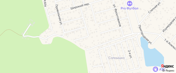 Переулок Ветеранов на карте деревни Жилино с номерами домов