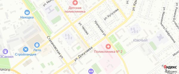 Улица Добролюбова на карте Ишимбая с номерами домов