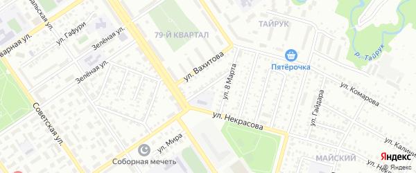 Улица Спутник на карте Ишимбая с номерами домов