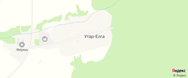 Центральная улица на карте деревни Утара-Елги с номерами домов