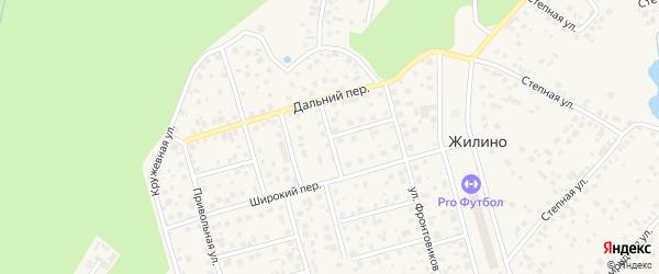 Малый Строительный переулок на карте деревни Жилино с номерами домов