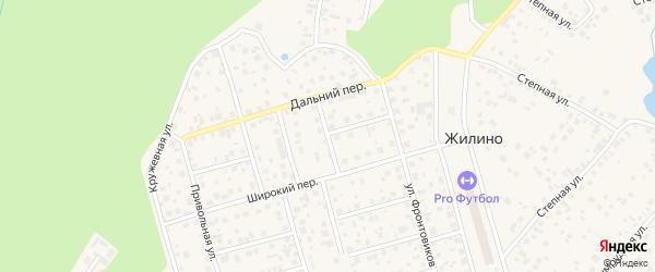 Малая Садовая улица на карте деревни Жилино с номерами домов
