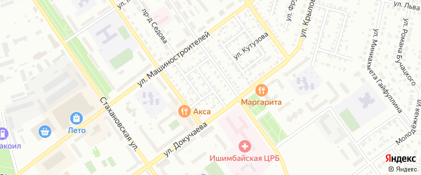 Улица Циолковского на карте Ишимбая с номерами домов