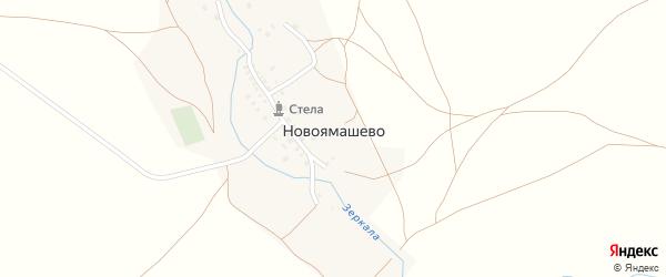 Заречная улица на карте деревни Новоямашево с номерами домов