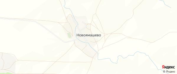 Карта деревни Новоямашево в Башкортостане с улицами и номерами домов