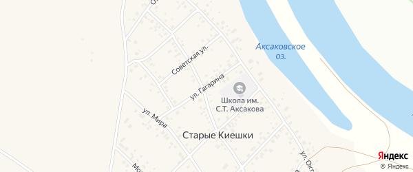 Улица Гагарина на карте деревни Старые Киешки с номерами домов